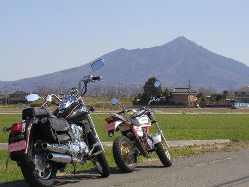 筑波山を眺める