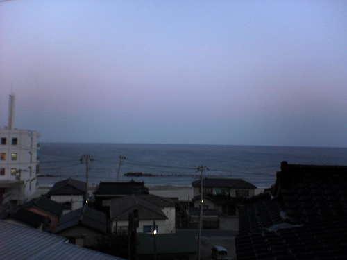 日本海の朝焼け