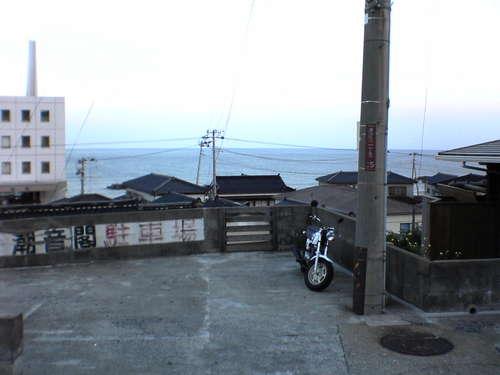 海の見える駐車場